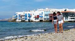 On Mykonos,Greece - stock footage