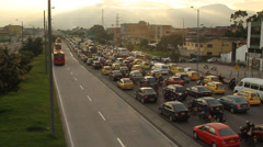 Bogota morning rush hour 1 Stock Footage