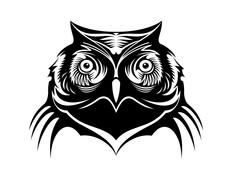 Stock Illustration of head of a wise old owl