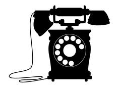 Old-fashioned dial up telephone Stock Illustration