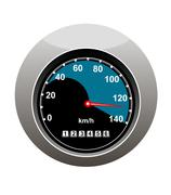 car speedometer showing someone speeding - stock illustration