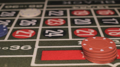 Roulette table dolly shot, Closeup Stock Footage