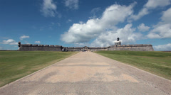 Castillo San Felipe del Morro Fort San Juan entrance HD 1703 Stock Footage