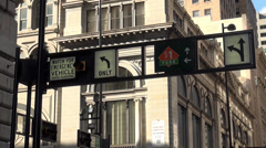 Street corner Cincinnati Ohio - stock footage
