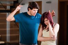 marital quarrel - stock photo