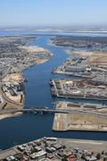 Aerial view of port adelaide Stock Photos
