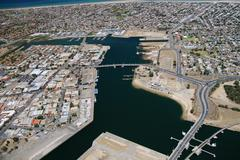 Stock Photo of aerial view of port adelaide