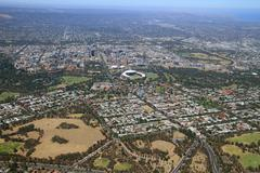 Stock Photo of aerial adelaide