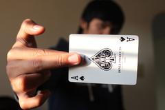 FOCUS ON YOUR ACE OF SPADES Stock Photos