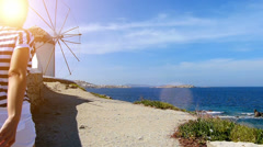 On Mykonos,Greece Stock Footage