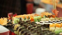 Sushi bar Stock Footage