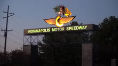 Entrance Indianapolis Motor Speedway Racetrack Stock Footage