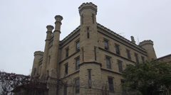 Prison, Joliet correctional facility Illinois Stock Footage
