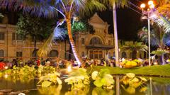 1080 - People celebrating Tet (Chinese New Year) in Saigon, Vietnam Stock Footage