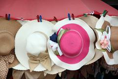 Multiple blade hat hanging. Stock Photos