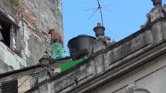Cuba Old Havana City Street Life - stock footage