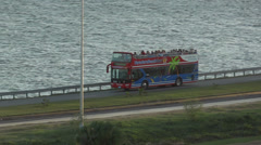 Double Deck Bus Tourist , Varadero Cuba Stock Footage
