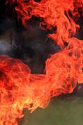 fire burning with heat. - stock photo