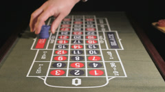 Roulette betting, Closeup Stock Footage
