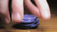 Betting in the casino, Closeup - stock footage