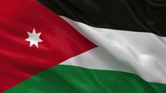 Flag of Jordan - seamless loop Stock Footage