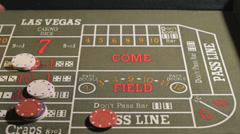 Playing Craps, Closeup - stock footage