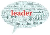 Stock Illustration of leader concept in word tag cloud