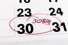Job reminder Stock Photos