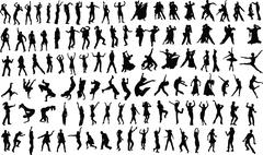 Dancers Stock Illustration