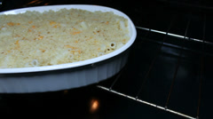 Macaroni And Cheese Baked Stock Footage