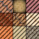 Stock Illustration of collection of mounted floor textures