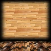 empty lodge room background with wood finishing - stock illustration