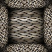 very abstract wooden interior architectural backdrop - stock illustration