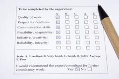 evaluation form - stock photo