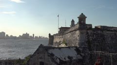 Morro Castle Fortress Cuba, Havana City Background Stock Footage