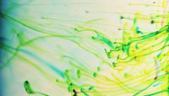 Ink spreads. liquid ink splash in water. - stock footage