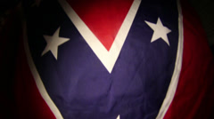 Confederate flag rebel Stock Footage