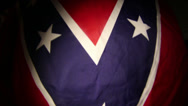 Stock Video Footage of confederate flag rebel