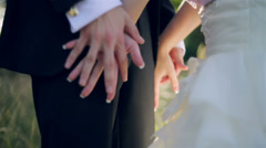 Hands entwined together in love Stock Footage
