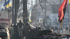 Ukrainian revolution Stock Footage