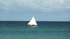 Stock Video Footage of Small Sailboat With One Person