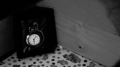 Timelapse of pocket watch Stock Footage