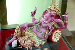 ganesh statue replica in the box set. - stock photo