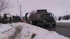 Road snow blower with heavy trucks. #4 - stock footage