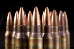 bullets closeup - stock photo