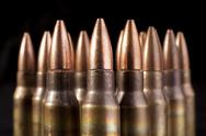 Stock Photo of bullets closeup