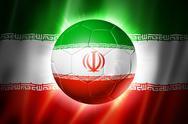 Soccer football ball with iran flag Stock Illustration