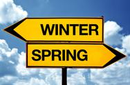 Stock Illustration of winter or spring opposite signs