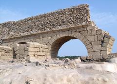 aqueduct in caesarea - stock photo