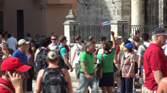 Tour Guide And Tourists - Travel & Tourism Stock Footage